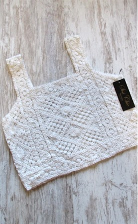 Top crochet corto SisiChic