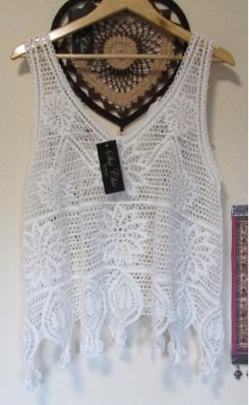 Top Crochet Modelo Evase...