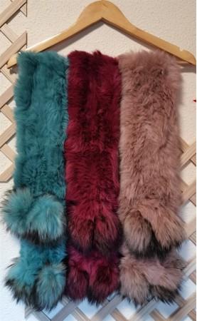 Bufandas de pelo conejo...
