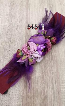 Cinturón Flores Plumas...