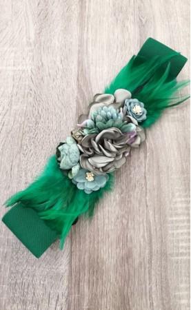Cinturón Flores Verde...