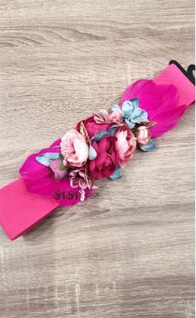 Cinturón Flores Fucsia...