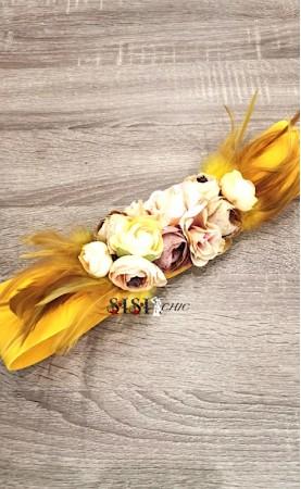 Cinturón Flores Amarillo...