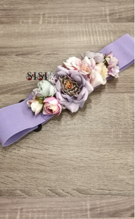 Cinturón Flores Lila...
