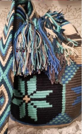 Bolso Wayuu Turquesa...