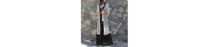 Kimonos  largos de mujer .. Kimonos estampados
